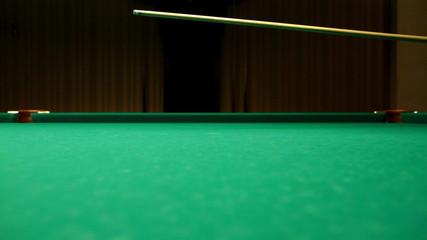 Billiards game blow on ball POOL