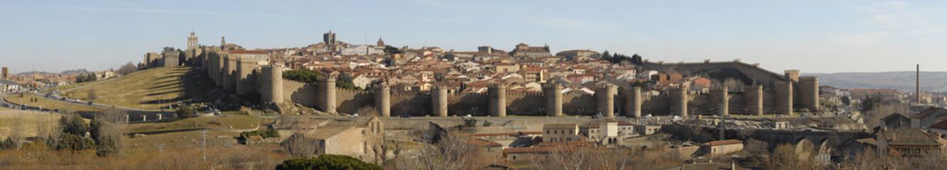 Vista panorámica de la ciudad de Avila. España.