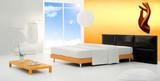 orange ethnic minimal bedroom poster