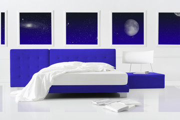 universe surreal bedroom