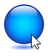 Blue Button (internet web blank click here go ok cursor vector)
