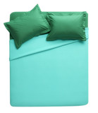 green-cyan cutout bed
