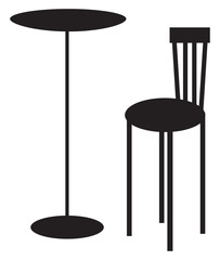 table & chair silhouette