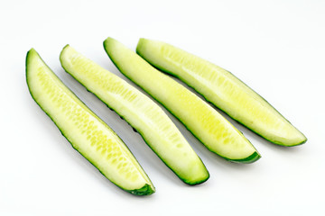 Four Long Cucumber Slices