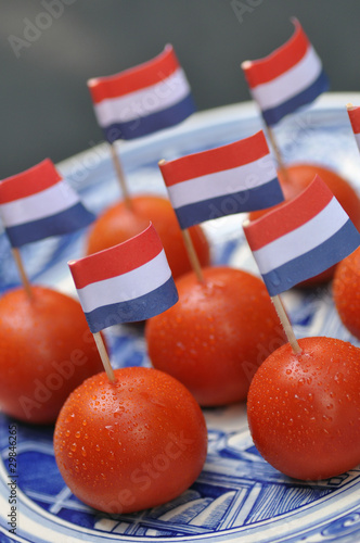 Dutch snack tomato with flag