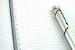 Pen on Blank Lined Paper