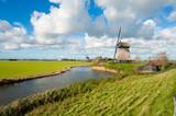 beautiful windmill landscape in the Netherlands