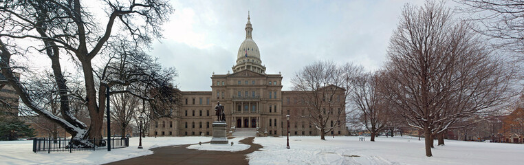 Panorama of Lansing Capitol Building