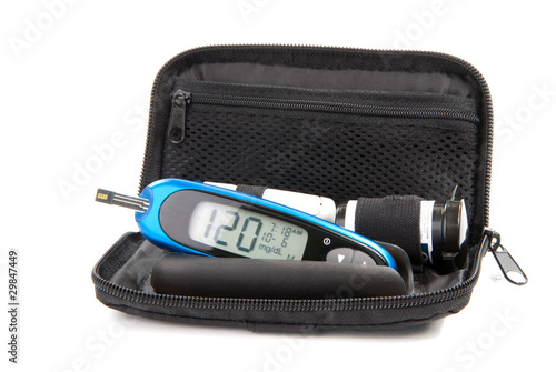 Diabetes glucose level blood test glucometer kit