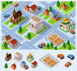City Hall Isometric Vector