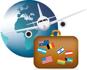 worldwide travel symbol