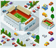 Stadium of Soccer Isometric Vector