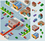Shoping and Grocery Isometric Vector
