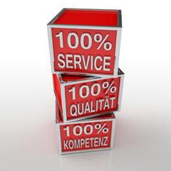 Service - Qualität - Kompetenz - 100%