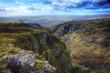 Leinwandbild Motiv Stunning landscape across top of ancient mountain gorge