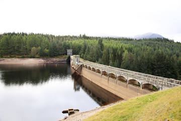 Laggan Dam in Scotland