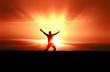 Man Jumping in Sun Rays - 29850490