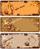 Fototapety set of coffee banners