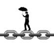 Balancing on chain link