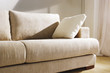 modern white couch closeup