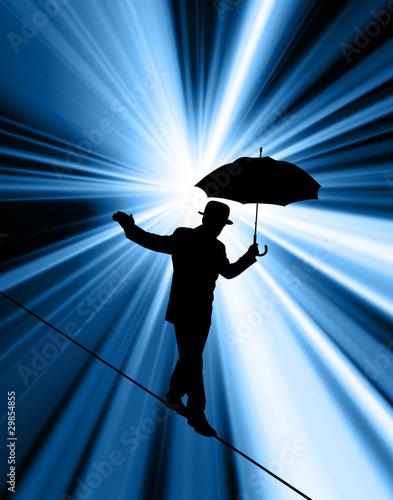 Tightrope Silhouette