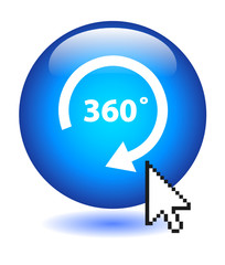 """""""360°"""" Web Button (view panorama 360 degrees wide angle tour 3D)"""