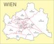 Wien Bezirkskarte