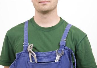 mechanic and tools