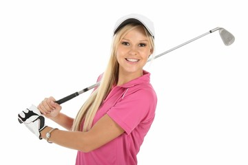 Gorgeous Blonde Golfer Lady