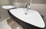 double bathroom hand wash basin poster