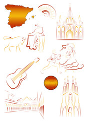 Spanish sights and symbols