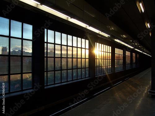 In de dag Departure platform