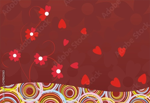abstract decor flower heart