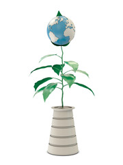 Plant and model of Earth
