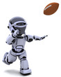 Robot playing american football