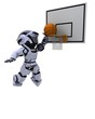 Robot playing basketball