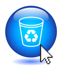 RECYCLE BIN Button (delete cancel web internet files computer)