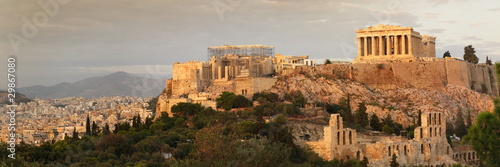 Staande foto Athene acropolis panoramic view