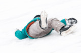 winter sport skating injury poster
