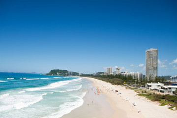 australian beach during the day with buildings beside