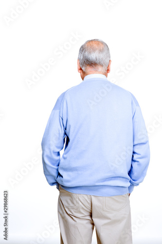 Back of an old man