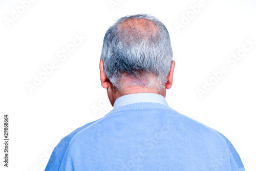 Senior balding man head