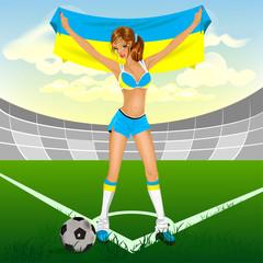 Ukrainian girl soccer fan