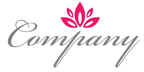 Red flower logo for healthcare company