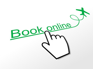 BOOK ONLINE Hyperlink (order now e-bookings web flights button)