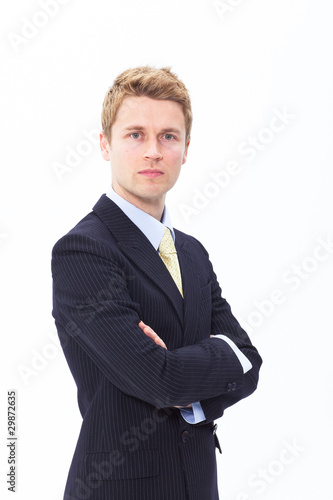 Serious businessman