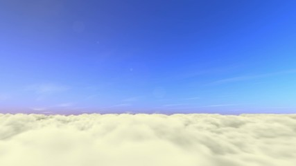 24sec. above the clouds - sun, moon, stars time lapse loop (25i)