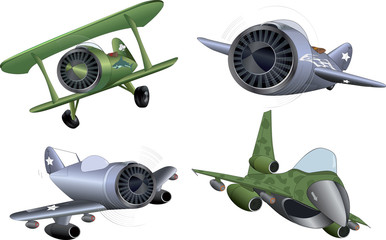 The military planes clip art