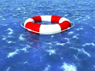 Rettungsring im Meer