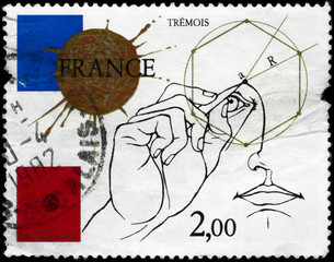 FRANCE - CIRCA 1981 Geometric Diagram